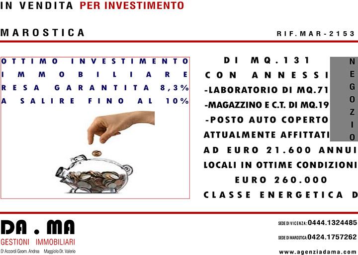 OTTIMO INVESTIMENTO RESA GARANTITA 8,3% A SALIRE FINO AL 10%